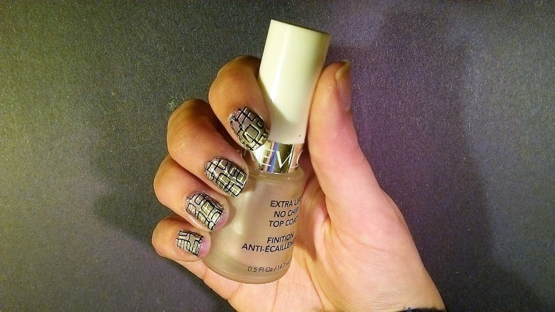 Sponge Gradient with Double Stamping nail art by Kristyna
