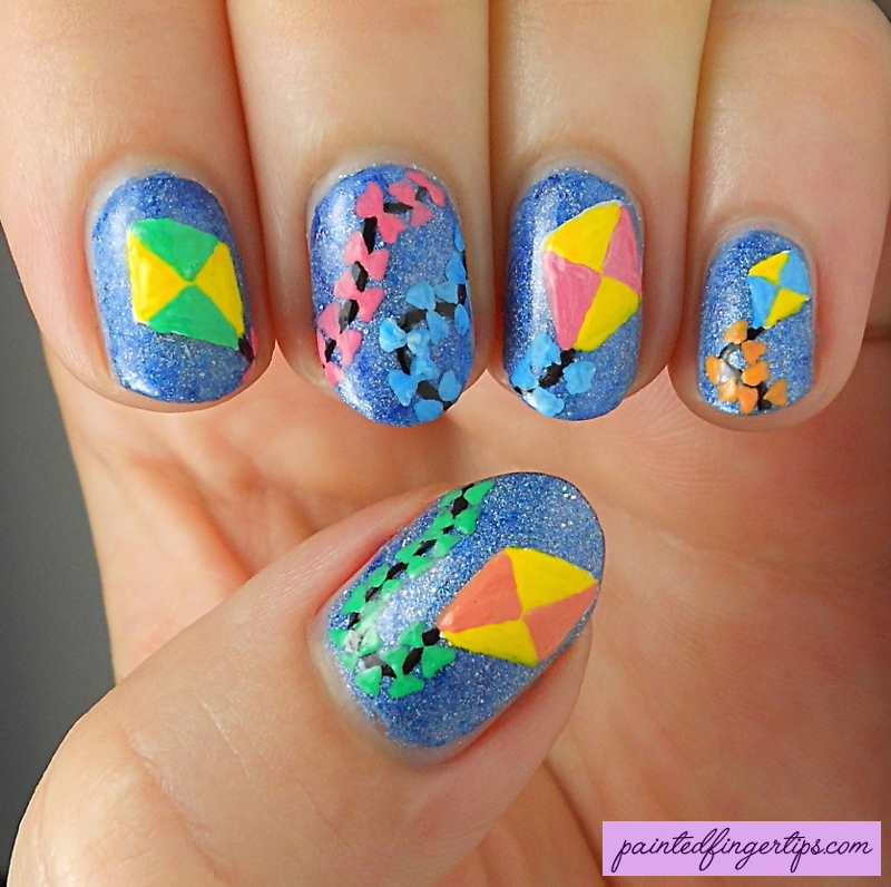 Kite nails nail art by Kerry_Fingertips