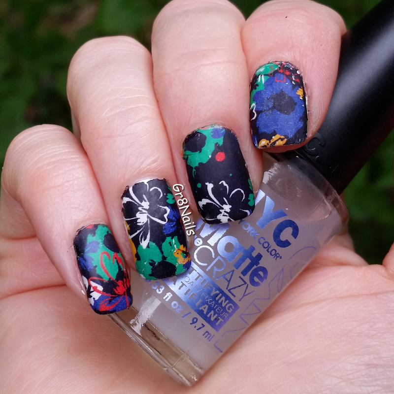 water decals nail art by Gr8Nails