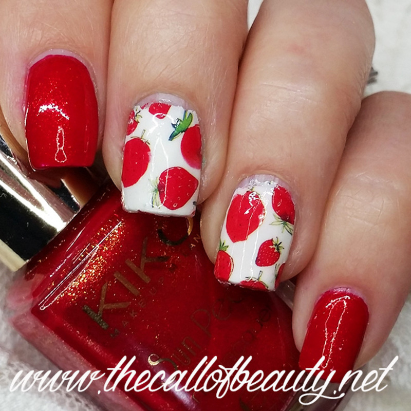 Strawberry Fields Forever nail art by The Call of Beauty