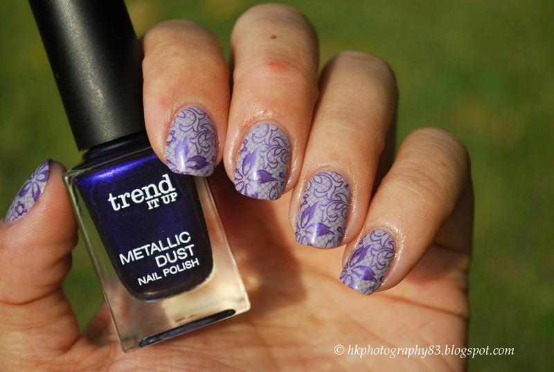 Stamping nail art  nail art by Hana K.