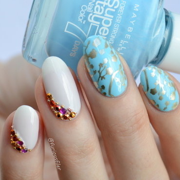 Oriental Nails nail art by Furious Filer