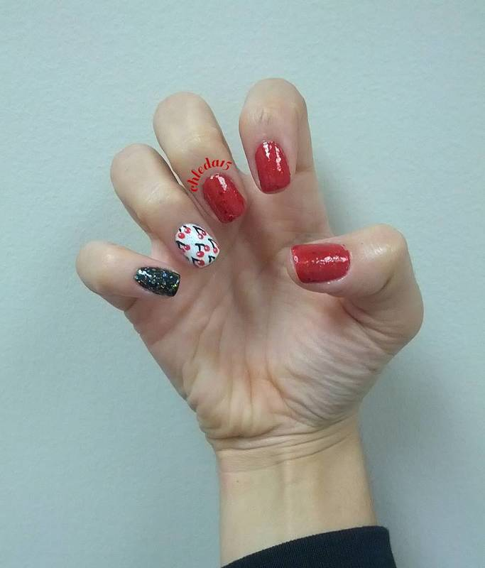 Very Sweet Cherry nail art by chleda15