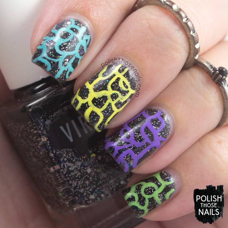 Running Out Of Squiggles nail art by Marisa  Cavanaugh