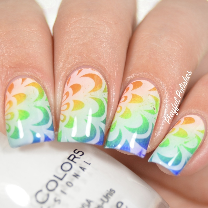 31DC2016 - Watermarble nail art by Playful Polishes