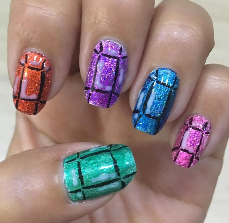 the royal jewels 2.0 nail art by Idreaminpolish