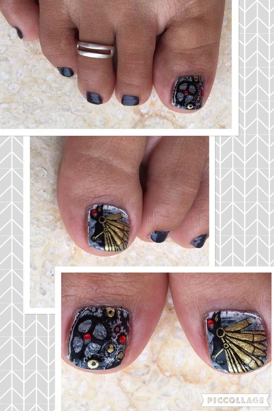 full steampunk ahead nail art by Idreaminpolish