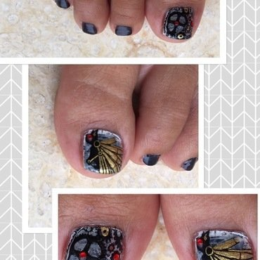 full steampunk ahead nail art by Idreaminpolish