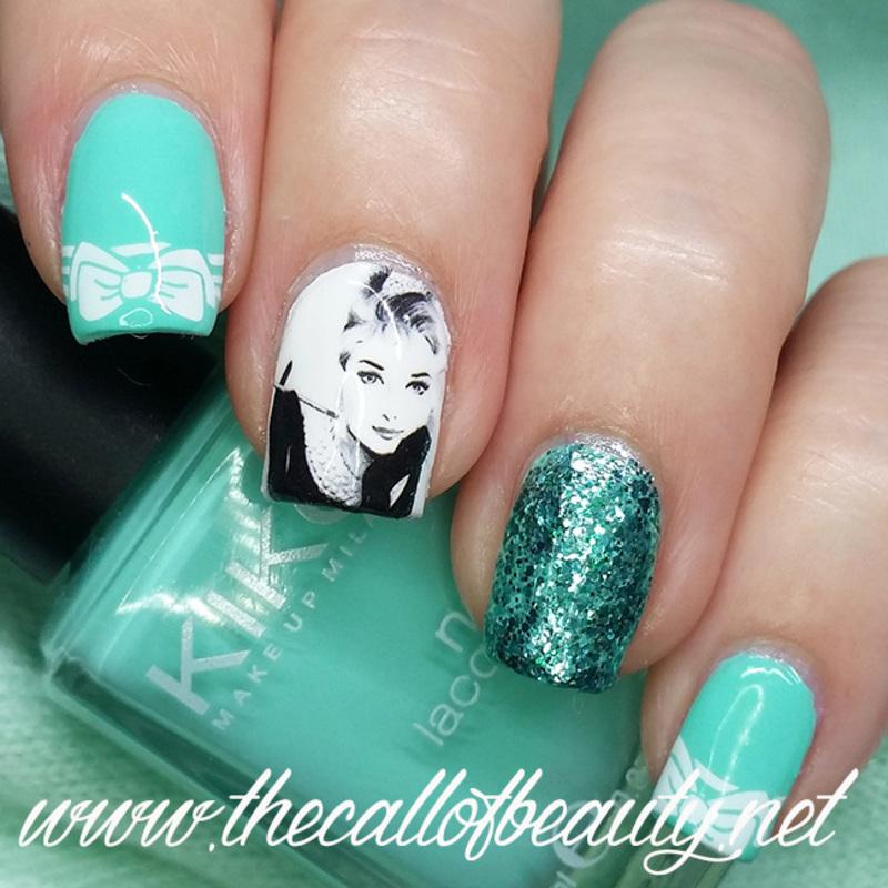 Breakfast at Tiffany's nail art by The Call of Beauty
