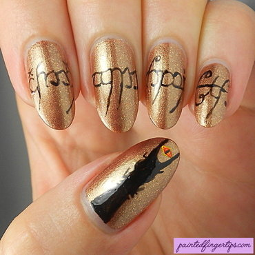 Lord of the Rings nails nail art by Kerry_Fingertips