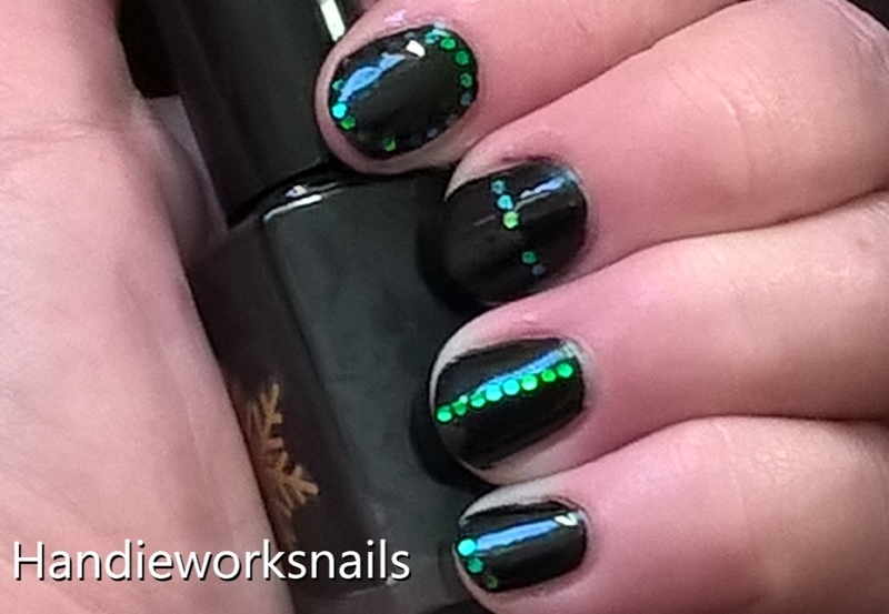 Dark Elegance nail art by Sazjay