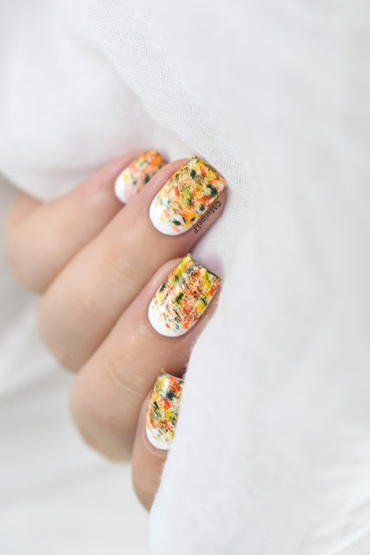 Hello Autumn nail art by Marine Loves Polish