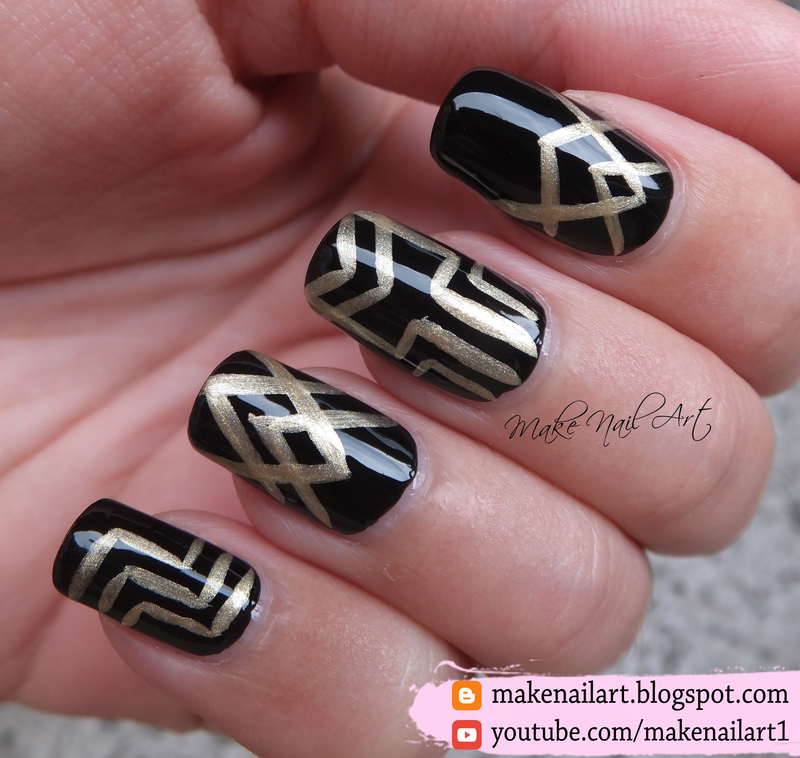 The Great Gatsby Nail Art Design nail art by Make Nail Art