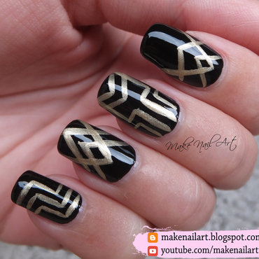 The Great Gatsby Nail Art Design nail art by Make Nail Art