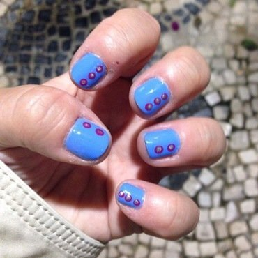 Faux Rhinestones nail art by Rezingona