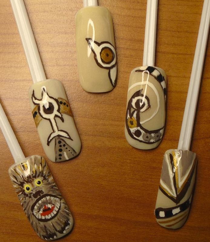 When single shines the triple sun... nail art by Rhianne Nagels