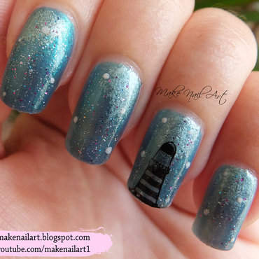 Lighthouse In The Night Nail Art Design nail art by Make Nail Art