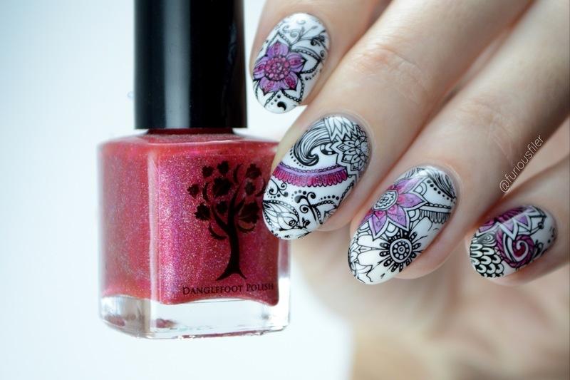Colouring book nail art by Furious Filer