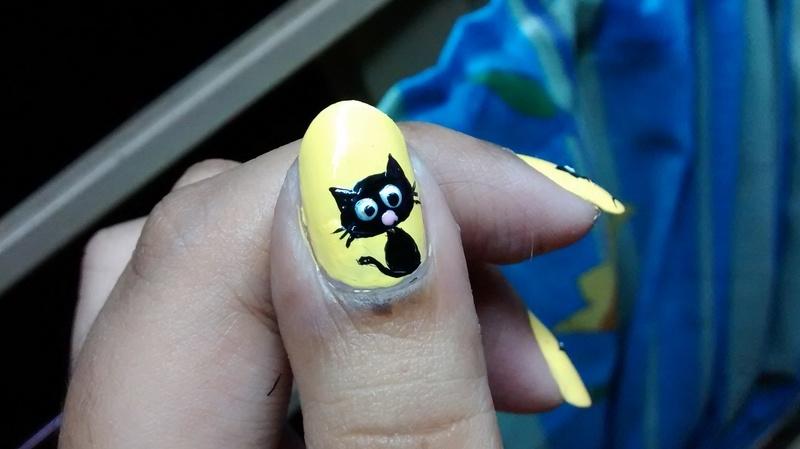 Cat Love nail art by Sohini  Sengupta