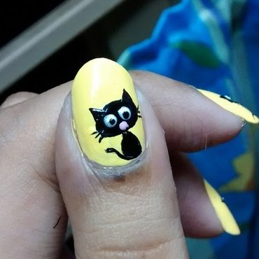 Cat Love nail art by Sohini  Sengupta