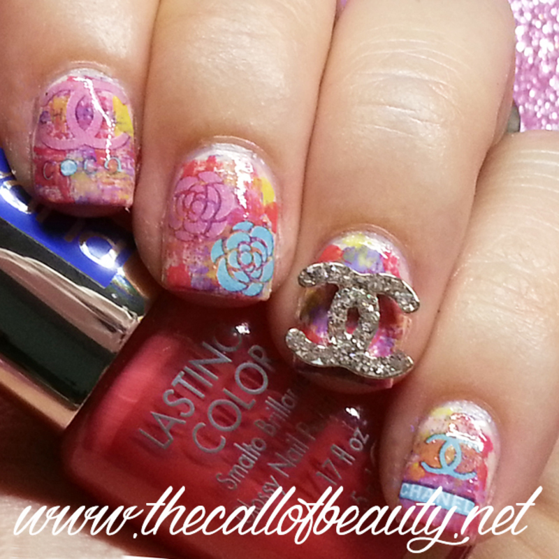 Chanel Tweed Bouclé nail art by The Call of Beauty