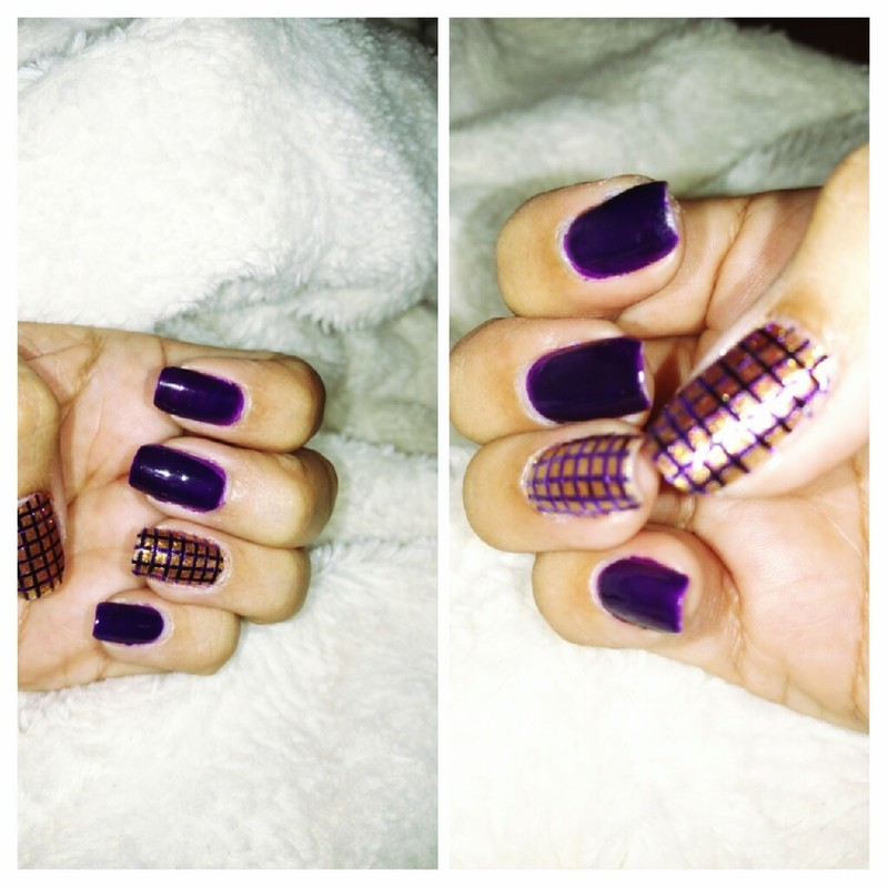 A present in purple  nail art by Rubby  Jarnagin