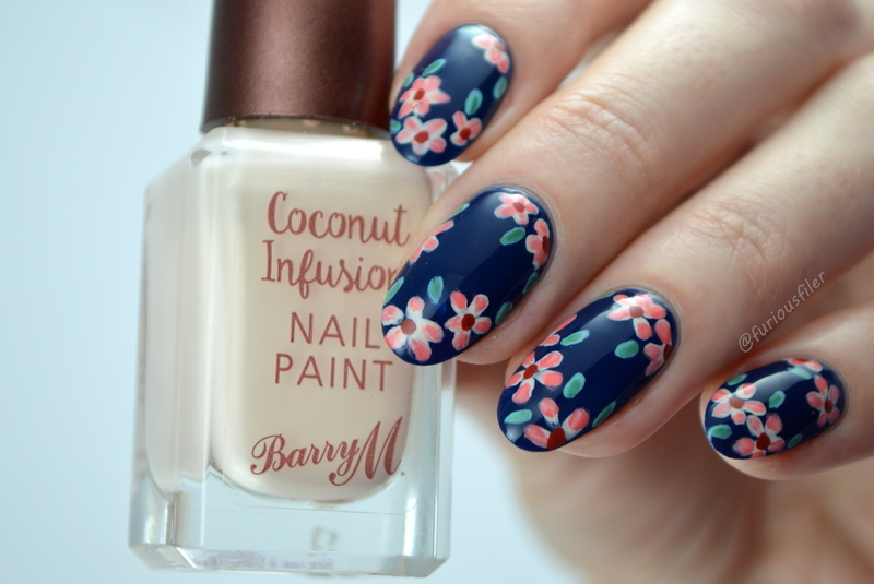 AW16 Florals nail art by Furious Filer