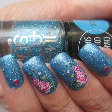 Glitterama nail art by NinaB