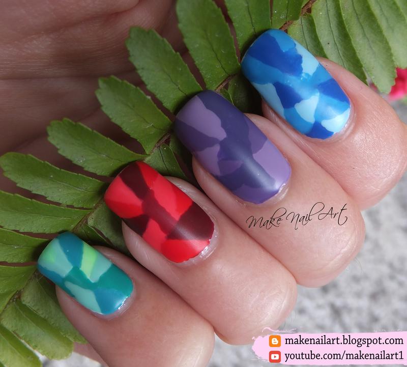Geometric Pattern Nail Art Design nail art by Make Nail Art