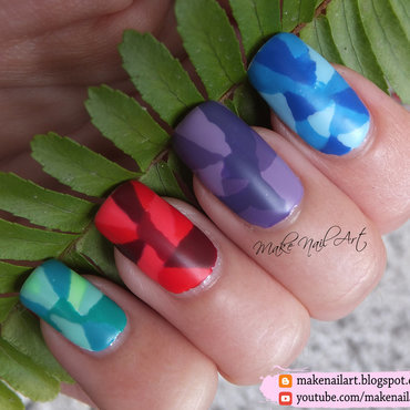 Geometric Pattern Nail Art Design nail art by Make Nail Art