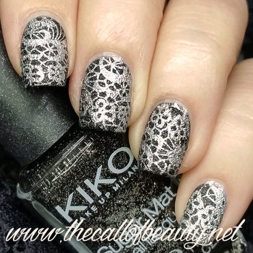 Black Lace nail art by The Call of Beauty