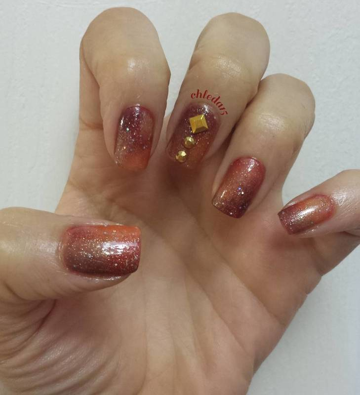 In Order to Rise We've Gotta Fall nail art by chleda15