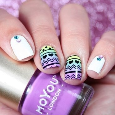 MoYou Hipster nail art by Romana