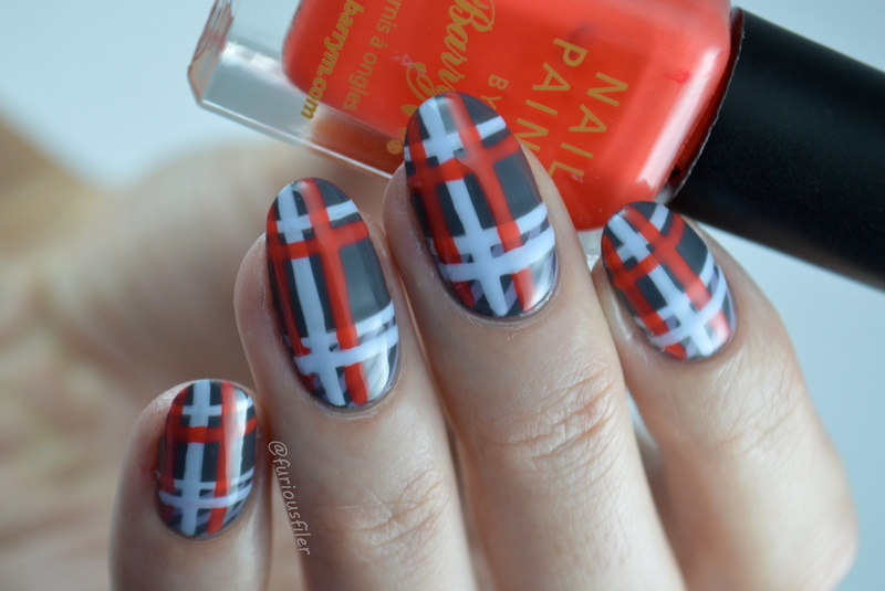VB Tartan  nail art by Furious Filer