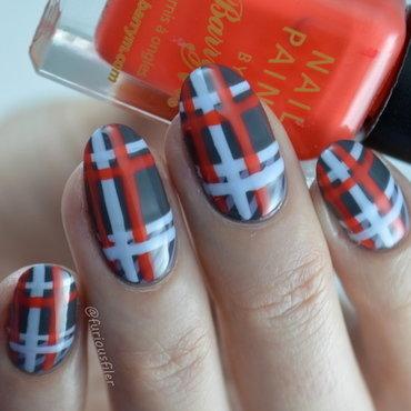 VB Tartan  nail art by Furious Filer