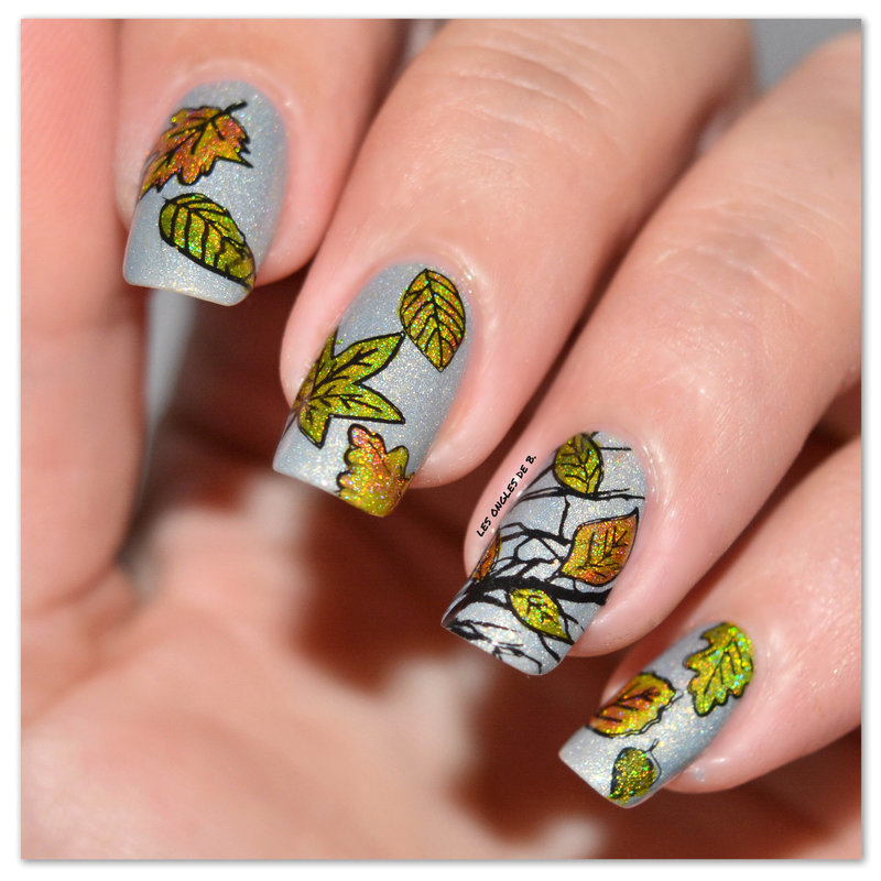 Fall season nail art by Les ongles de B.
