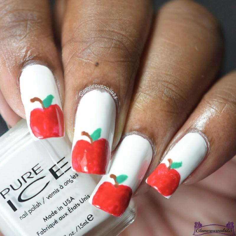 WNAC September 2016: Apples nail art by glamorousnails23