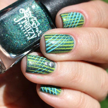holo watermelon nail art by nathalie lapaillettefrondeuse