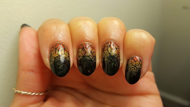 Fading Embers nail art by Alisha Worth