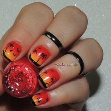 Tropico Coco ! nail art by Ka'Nails