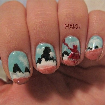 Journey nail art by Martina
