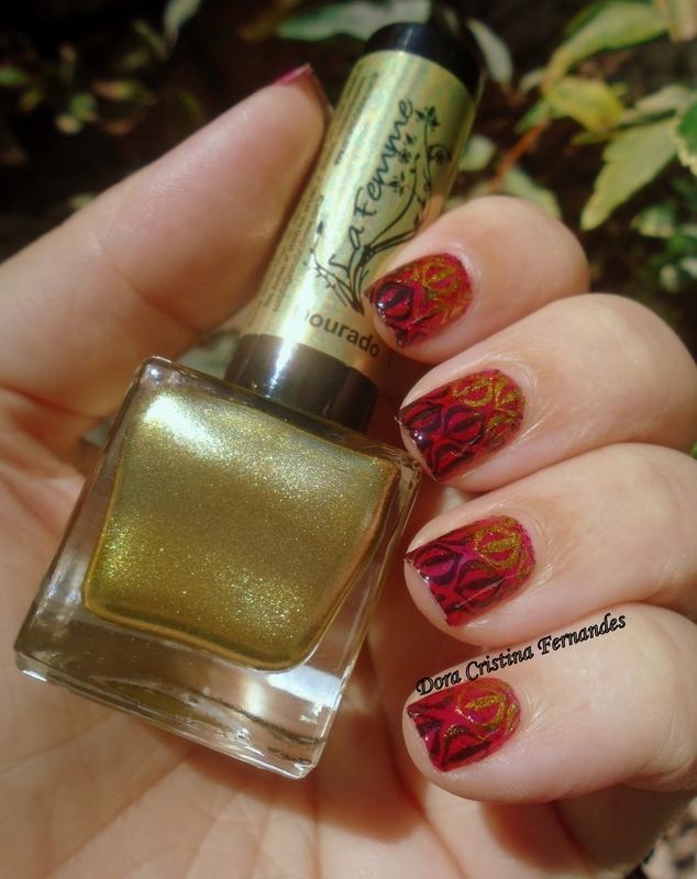 Oriental Feeling nail art by Dora Cristina Fernandes