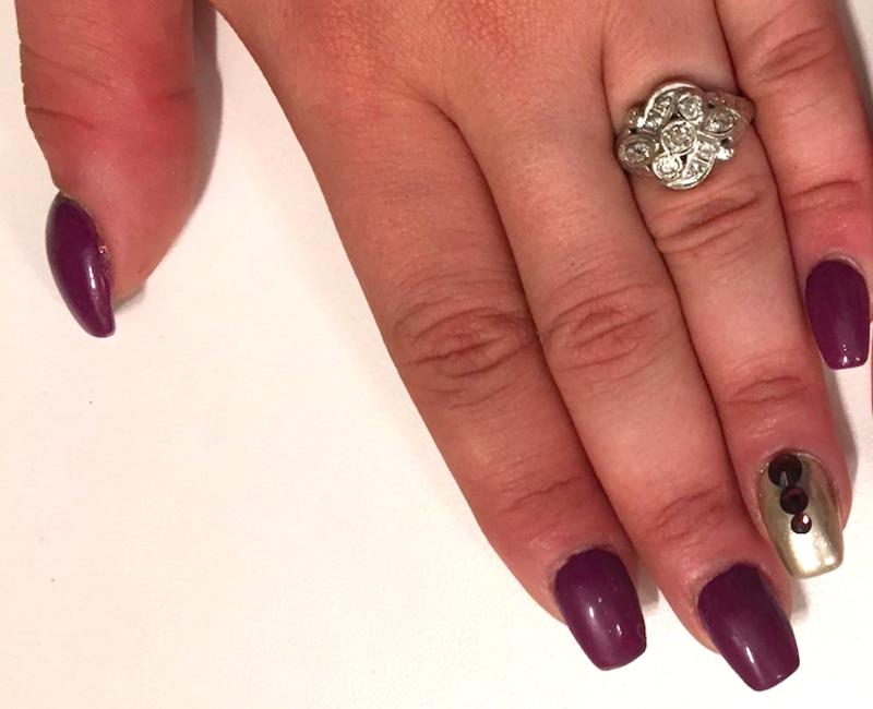 My bridesmaid nails nail art by Kristen Lovett