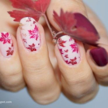 October nail art by 74ines