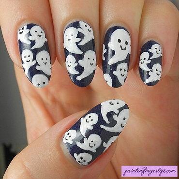 Cute ghost nail art thumb370f