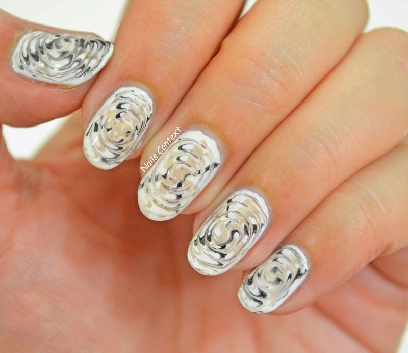 Coffee Swirls nail art by NailsContext