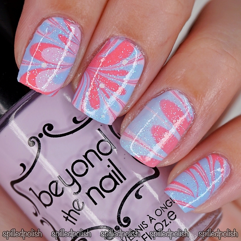 #31DC2016: Day 20 - Water Marble nail art by Maddy S
