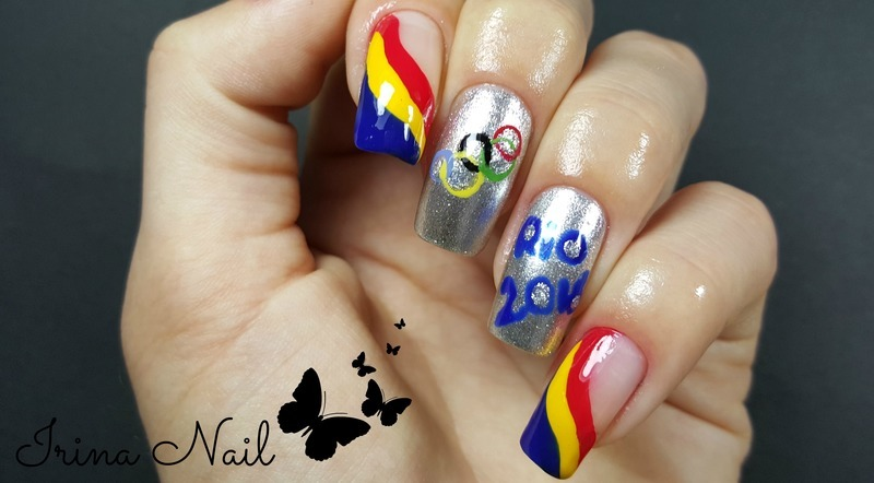 Olympic Nails Rio 2016  nail art by Irina Nail