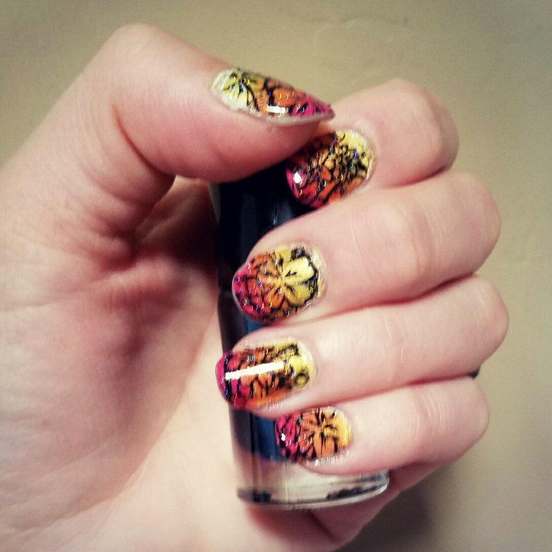 Tropical ombre  nail art by truhero