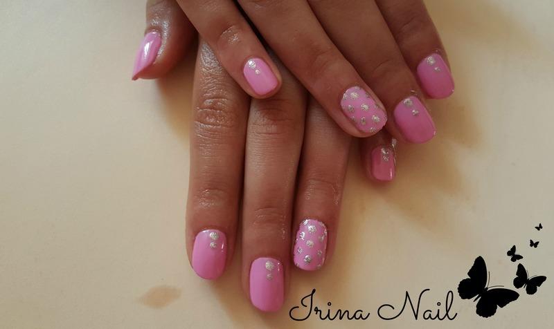 Pink nails nail art by Irina Nail